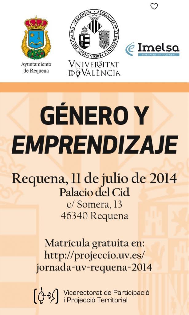 """Jornadas en Requena de """"Género y Emprendizje"""""""