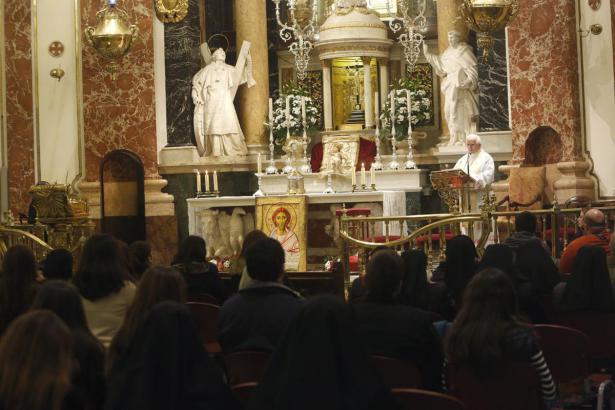 Vigilia de jovenes con el Cardenal Cañizares