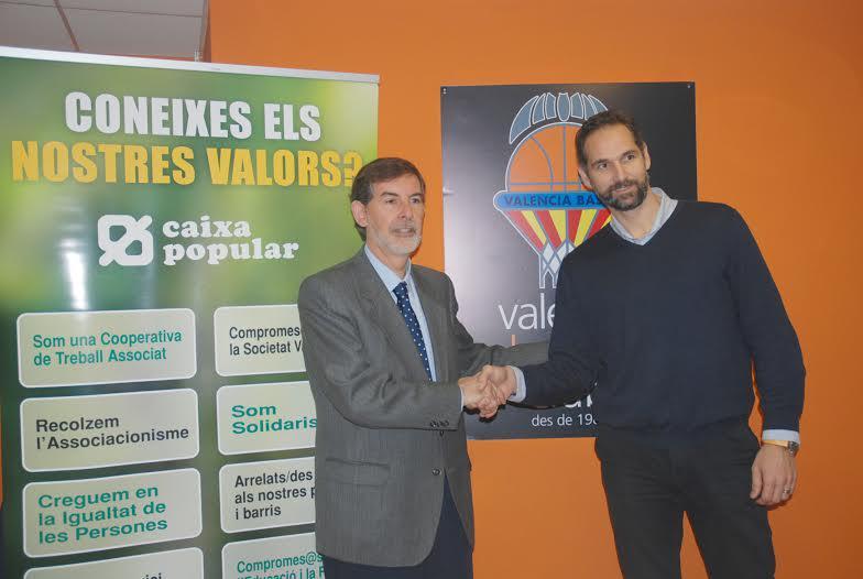 Valencia basket y caixa popular sellan su acuerdo de for Oficinas de caixa popular en valencia